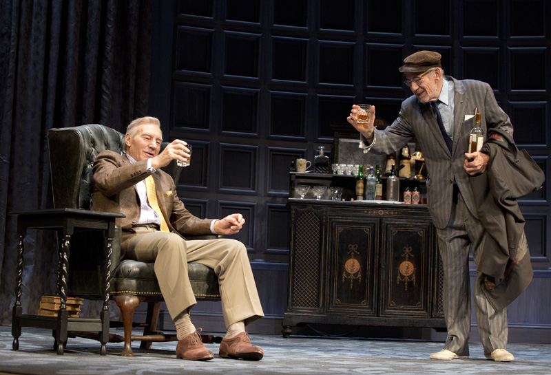 """Patrick Stewart (left) and Ian McKellen in """"No Man's Land."""""""