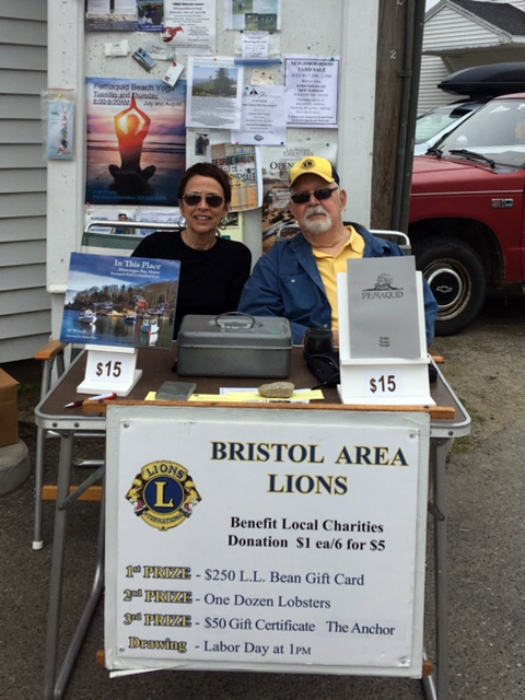 The Bristol Area Lions Club will sell raffle tickets to benefit its Christmas food baskets and other local charities every Saturday until the end of August. Lion Herb Watson is shown here with his daughter, Donna. (Photo courtesy Roberta Watson)