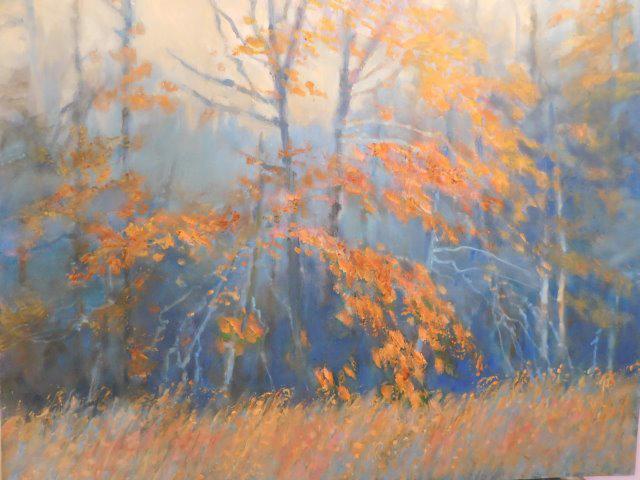 """""""After Rain, Autumn"""" an oil painting by Belva Ann Prycel."""