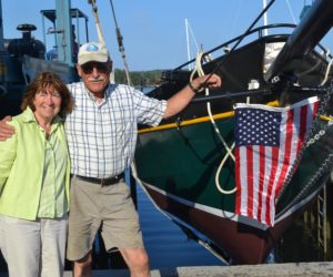 Alna Man Launches Boat 16 Years in the Making
