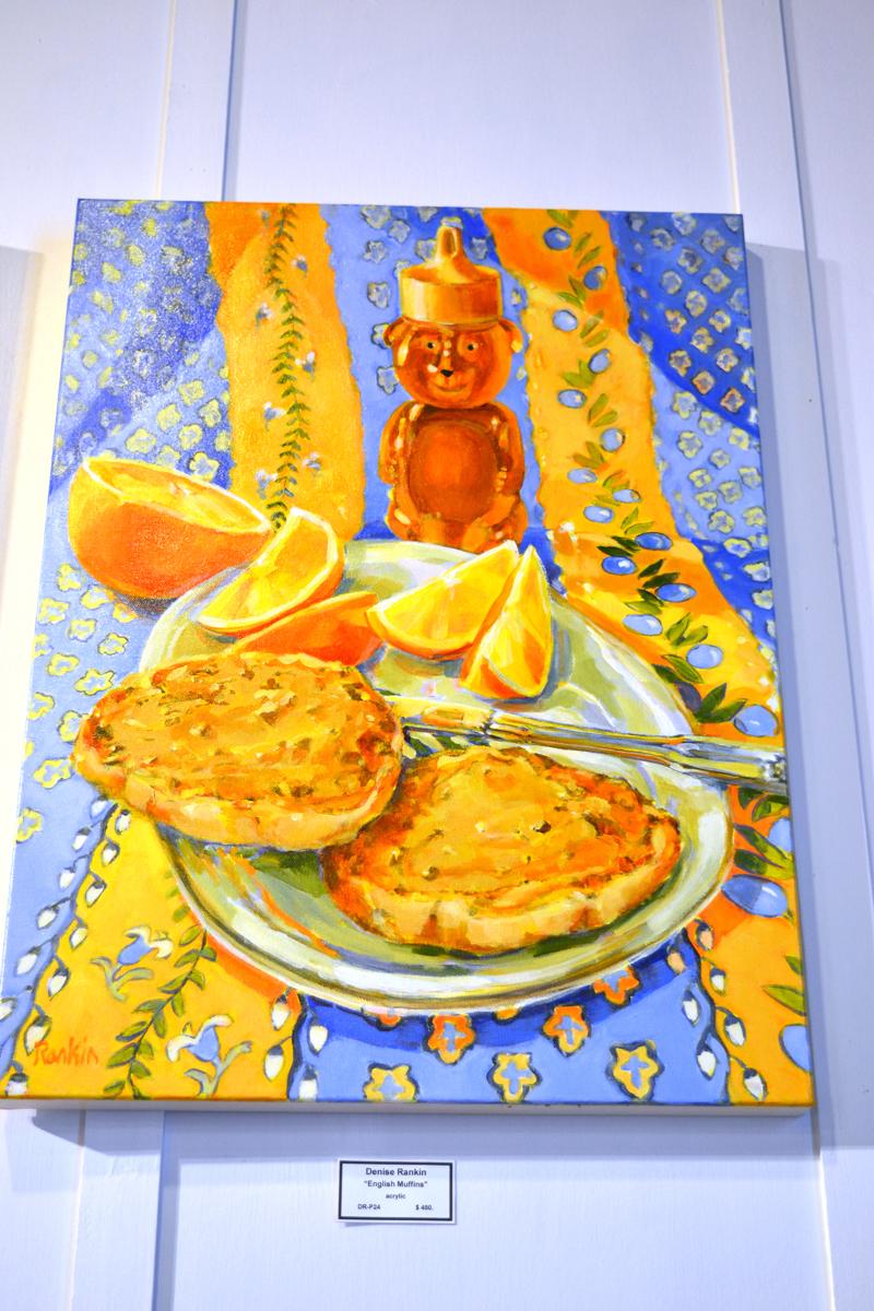"""English Muffins,"" an acrylic painting by Denise Rankin. (Christine LaPado-Breglia photo)"