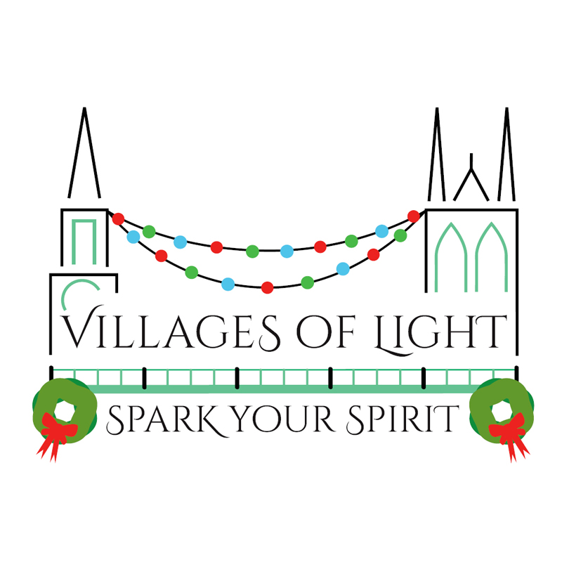 The first Villages of Light fesitival will take place in Damariscotta and Newcastle on Saturday, Nov. 25. (Logo by Amber Clark)