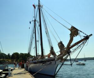 The Harvey Gamage docked at Gamage Shipyard. (Remy Segovia photo)