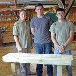 Carpenter's Boat Shop Aids with Eagle Scout Project