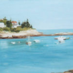 Oil Painters Kefauver and Mabry at Pemaquid Art Gallery