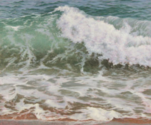 """Big Wave"", oil on linen, one of the latest works by Will Kefauver."