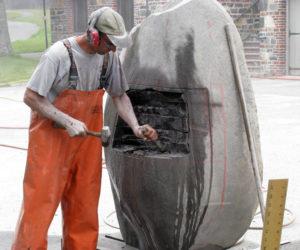 Sculptors Arrive for Maine Coast Stone Symposium