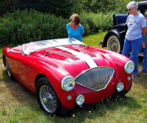 Tom Anderson's 1953 Austin Healey 100M, recipient of both the first place and the Kids' Pick trophies at the Olde Bristol Days Vintage Car Show. (Photo courtesy J. Friedman)