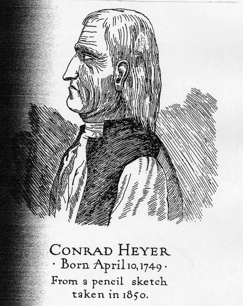 A drawing of Conrad Heyer.