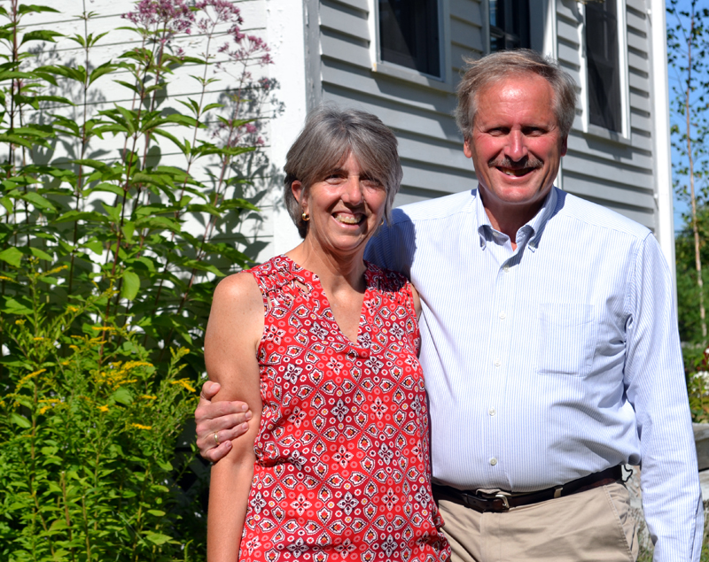 Anne and Robert Cekuta at their home in Jefferson on Aug. 23. (Abigail Adams photo)