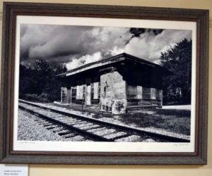 Chesley Farrell's black-and-white photography pays homage to train stations of the past. (Christine LaPado-Breglia photo)