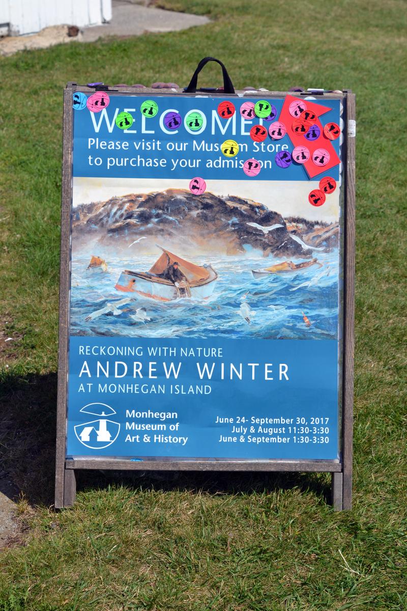 """Reckoning with Nature: Andrew Winter at Monhegan Island"" runs through Sept. 30 at Monhegan Museum of Art & History. (Christine LaPado-Breglia photo)"