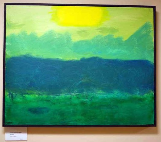 Chesley Farrell's lone painting in his current Hall Gallery exhibit. (Christine LaPado-Breglia photo)