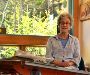 Monhegan artist Alice Boynton holds an open studio on Thursday, Aug. 31. (Christine LaPado-Breglia photo)