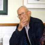 Waldoboro Man Receives Boston Post Cane at Moody's Diner