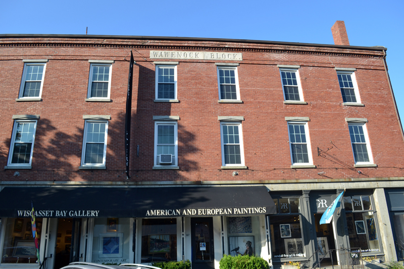 The Wawenock Block in downtown Wiscasset on Tuesday, Sept. 12. The building owner's lawsuit against the Maine Department of Transportation has been dismissed. (Abigail Adams photo)