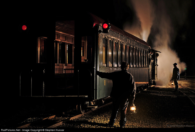 Ride the night train at the Wiscasset, Waterville & Farmington Railway Museum in Alna.