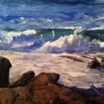 Landscape Painters Curtis and Ineson at Pemaquid Art Gallery