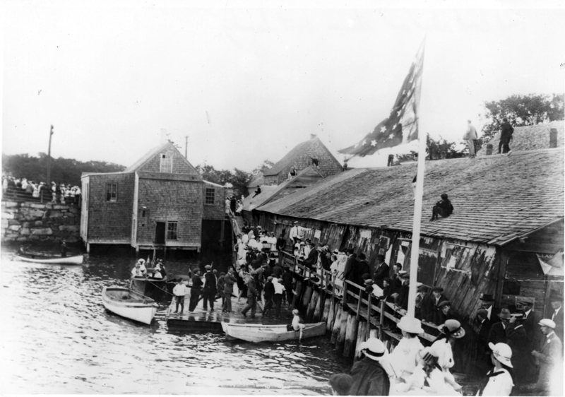 Cottrell's Wharf and steamboat landing, 1908. (Photo courtesy Calvin and Marjorie Dodge)