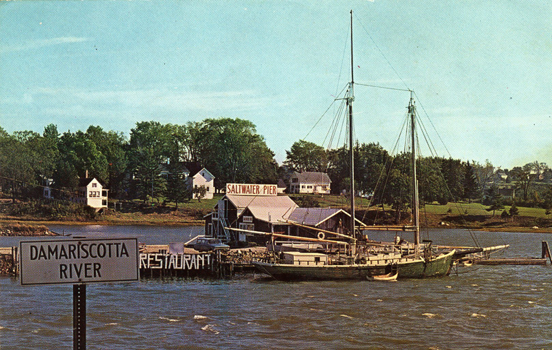 Saltwater Pier, Damariscotta, c. 1959. (Photo courtesy Calvin and Marjorie Dodge)