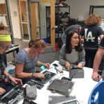 LA's Innovation Technology Team Assembles Laptops for Students
