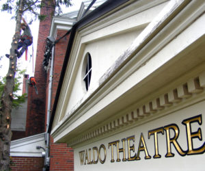 The front of the Waldo Theatre benefits from recent tree work.