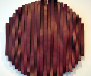 "Bernice Masse Rosenthal's wood assemblage piece ""Undulating Circle."" (Christine LaPado-Breglia photo)"