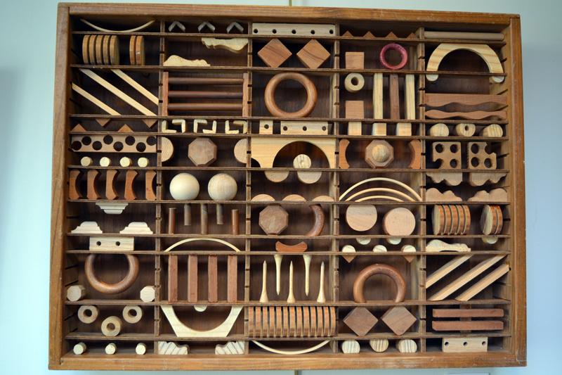 "Bernice Masse Rosenthal's ""Cuneiform Diary"" was created using a discarded cassette tape box. (Christine LaPado-Breglia photo)"