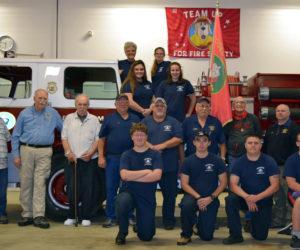 Edgecomb Unveils Plaque at Fire Station