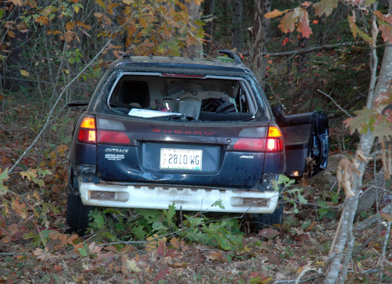 Waldoboro emergency crews responded to Horscents Lane, off Washington Road, for a single-vehicle accident the afternoon of Saturday, Oct. 21. (Alexander Violo photo)