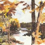 Cronin and Carter Art at Damariscotta River Grill