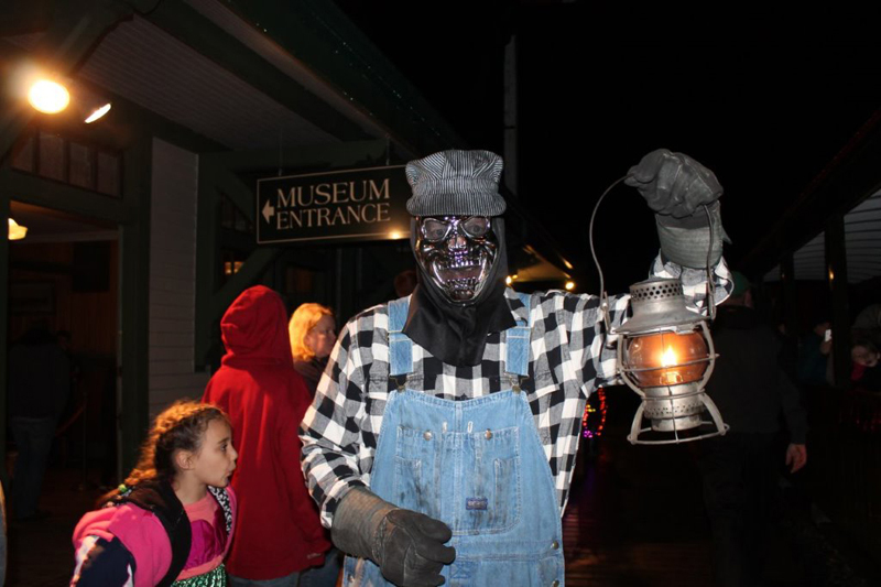 Passengers on the Ghost Train at Boothbay Railway Village will journey through enchanted cemeteries, see zombies and other ghastly things, hear the calls of strange beasts, and experience other unimaginable apparitions on Oct. 27 and 28.