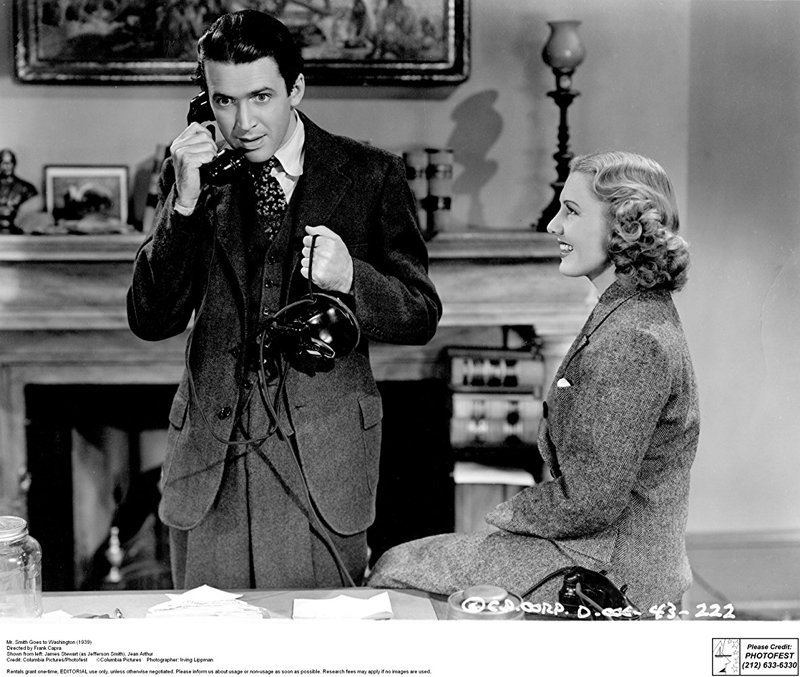 "James Stewart and Jean Arthur star in ""Mr. Smith Goes To Washington,"" which plays at Harbor Theater on Oct. 19 and 20."