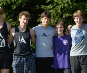 """<span class=""""entry-title-primary"""">Lincoln Academy boys win KVAC cross country title</span> <span class=""""entry-subtitle"""">Eagle Sam Russ wins individual KVAC title</span>"""