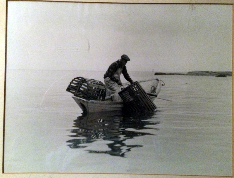 """This photo, titled """"The Old Timer,"""" was donated to the collection of the Old Bristol Historical Society by John Jicha, of Bremen. It was created by photographer J. Warren Crozier, probably in the 1950s, according to Chuck Rand, co-president and chair of the society's collections committee. The fisherman is identified as Fred Brackett."""