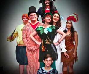 "The Medomak Valley Players cast of ""Peter Pan."""