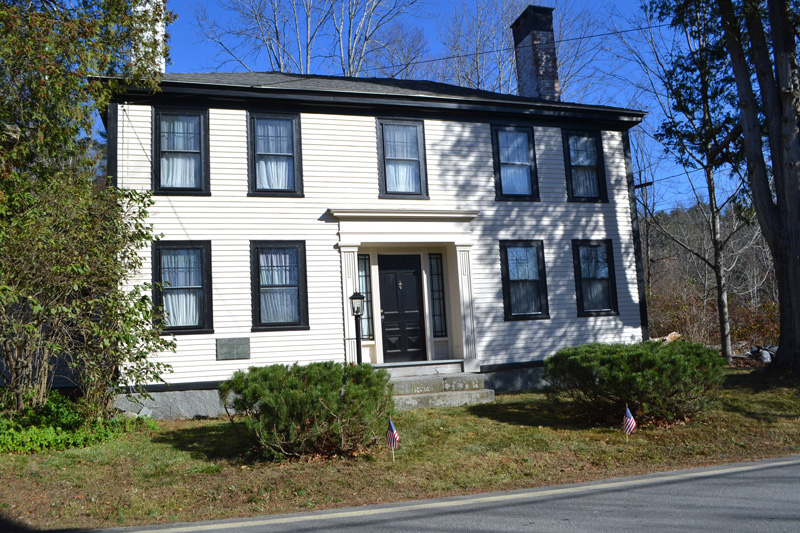 The birthplace of Edwin Arlington Robinson in Head Tide was also the birthplace of the Pemaquid Chapter of the Daughters of the American Revolution. The chapter celebrated its 85th anniversary at the home Saturday, Nov. 11. (Charlotte Boynton photo)