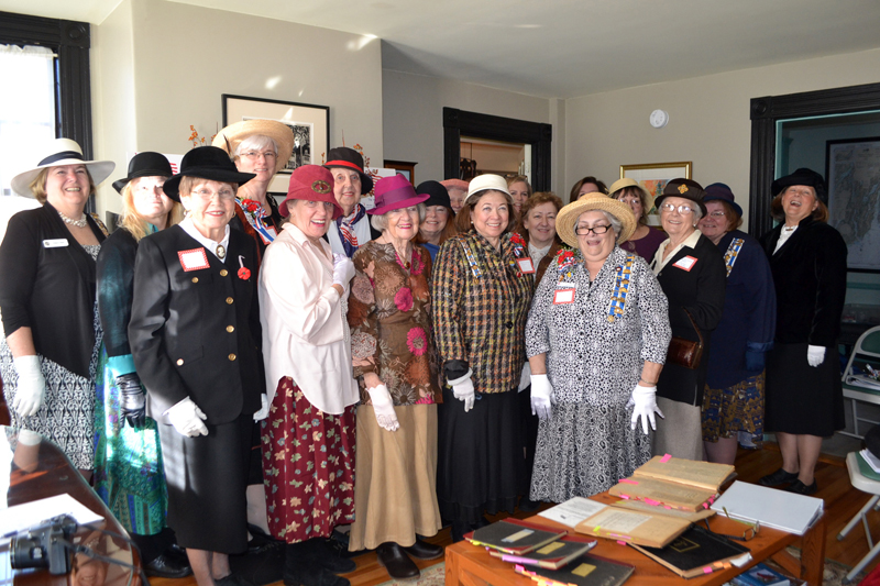 The Pemaquid Chapter of the Daughters of the American Revolution celebrates the chapter's 85th anniversary in the Head Tide home where it was founded in November 1932. (Charlotte Boynton photo)