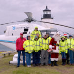 Flying Santa Returns to Pemaquid Point Lighthouse