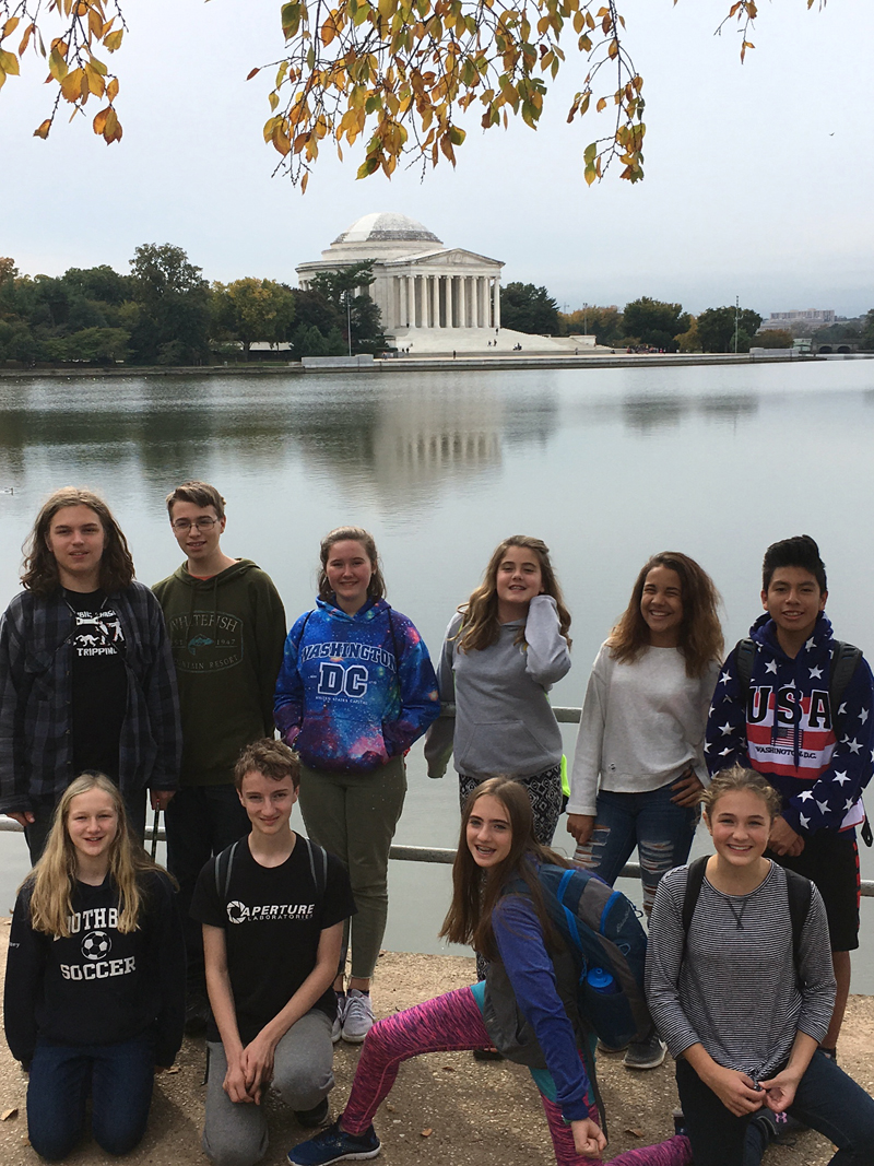 Damariscotta Middle School middle-school students visit Washington, D.C. for their annual Odyssey Trip.