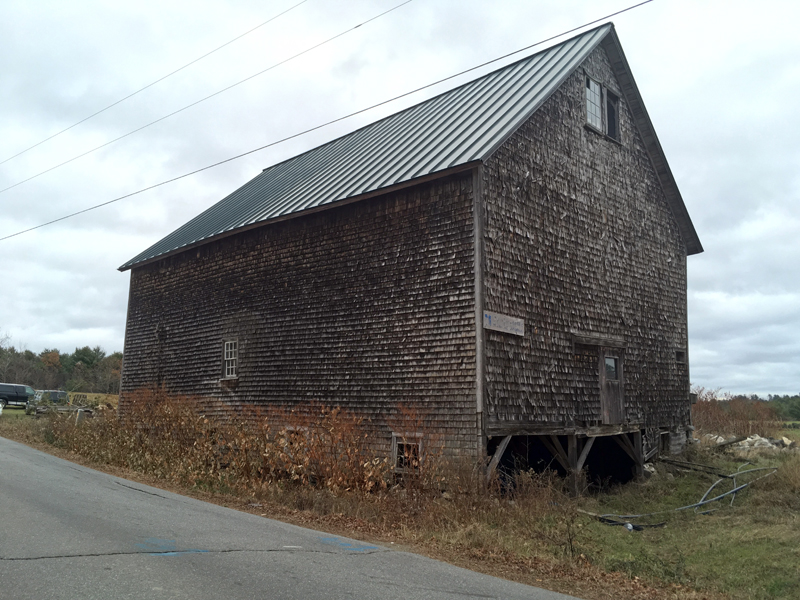 The 1910 hay barn at DRA's Great Salt Bay Farm was damaged beyond repair by recent windstorms.