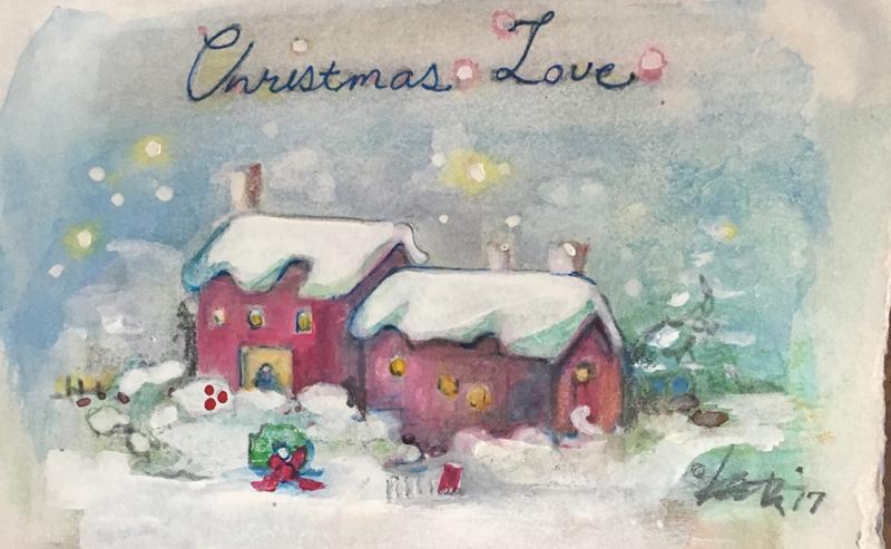 A Kathi Nordone Christmas card. (Photo courtesy Kathi Nordone)