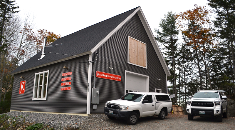 The JK Custom Woodworking workshop at 1700 Route 129 in South Bristol. (Maia Zewert photo)