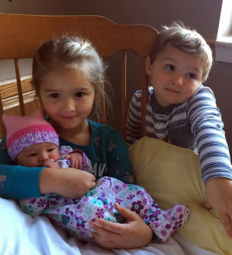Abigail Alley with her siblings, Madilynn and Benjamin.