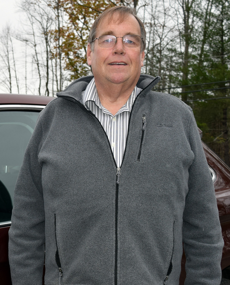 """Big Dave"" Page, of Damariscotta, is ready to cart millenials, and passengers of all age groups, around as a driver with the ride-hailing service Uber. (J.W. Oliver photo)"