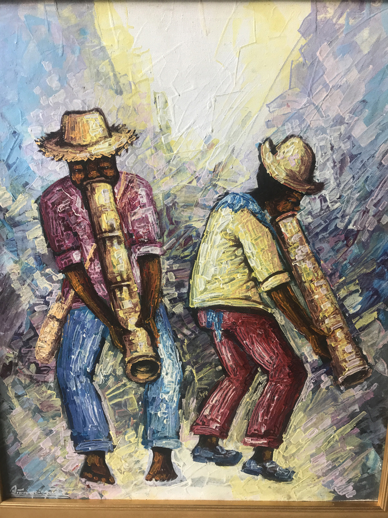 """The postponed Haiti Benefit Dinner will take place on Friday, Nov. 10 at 6 p.m. at St Patrick's Catholic Church in Newcastle. This painting by Jean-Baptiste Nyperking, titled """"RaRa,"""" will be raffled off at the dinner."""