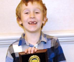 Damariscotta Boy, 6, Takes First at License Plate Meet