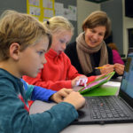 Students, Parents Learn to Code at GSB's First Family Code Night