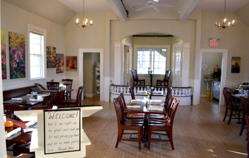 The main floor of Savory Maine Dining & Provisions. Owner Grace Goldberg plans to downsize the restaurant into the basement level of the building and convert the first floor into an apartment. (Maia Zewert photo)