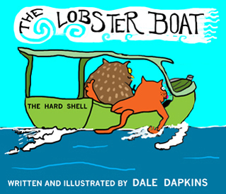 """The Lobster Boat"" is one of Dale Dapkins' new children's books. (Image courtesy Dale Dapkins)"